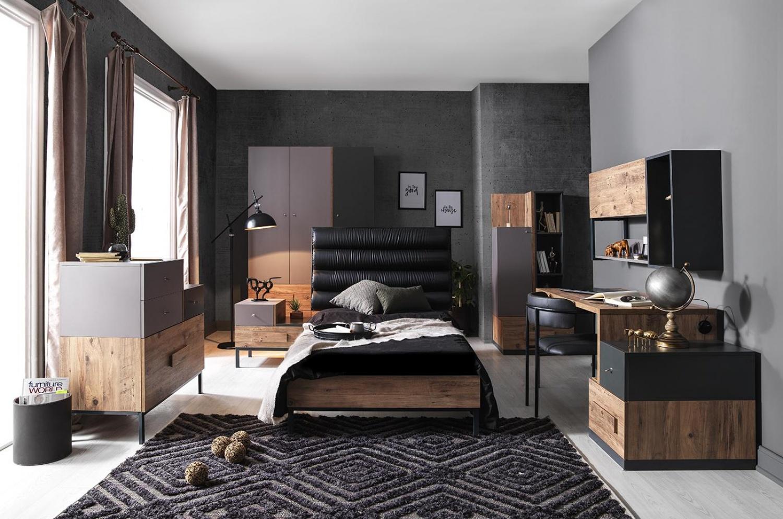 Jugendzimmer Komplett Set Torri 7 Teilig Dunkel Kaufen Bei Mobel Lux