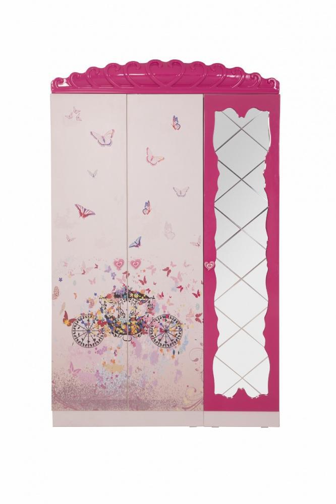 Kleiderschrank Kinder Pinkie 3-türig mit Motiv - Kaufen bei Möbel-Lux