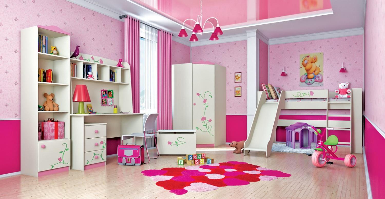 Wandregal in Creme Rosa Rosalia mit einem Boden
