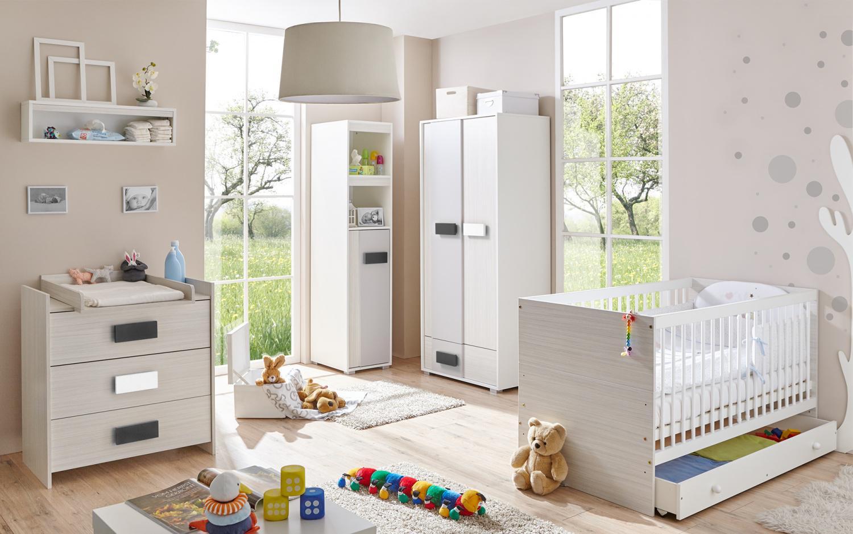 Babyzimmer komplett grau  Babyzimmer 6 teilig Veronika grau meliert - Kaufen bei Möbel-Lux