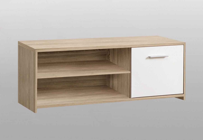 TV-Lowboard Cubus 1-türig in Sonoma Eiche / Weiß - Kaufen bei Möbel-Lux