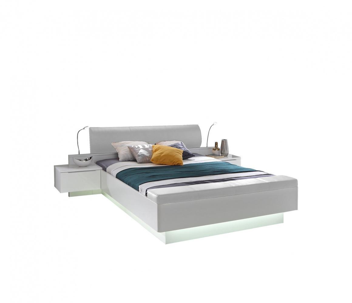 Einzigartig Bett Weiß 180x200 Beste Wahl Weiß Hochglanz Story Mit Fußbank 1