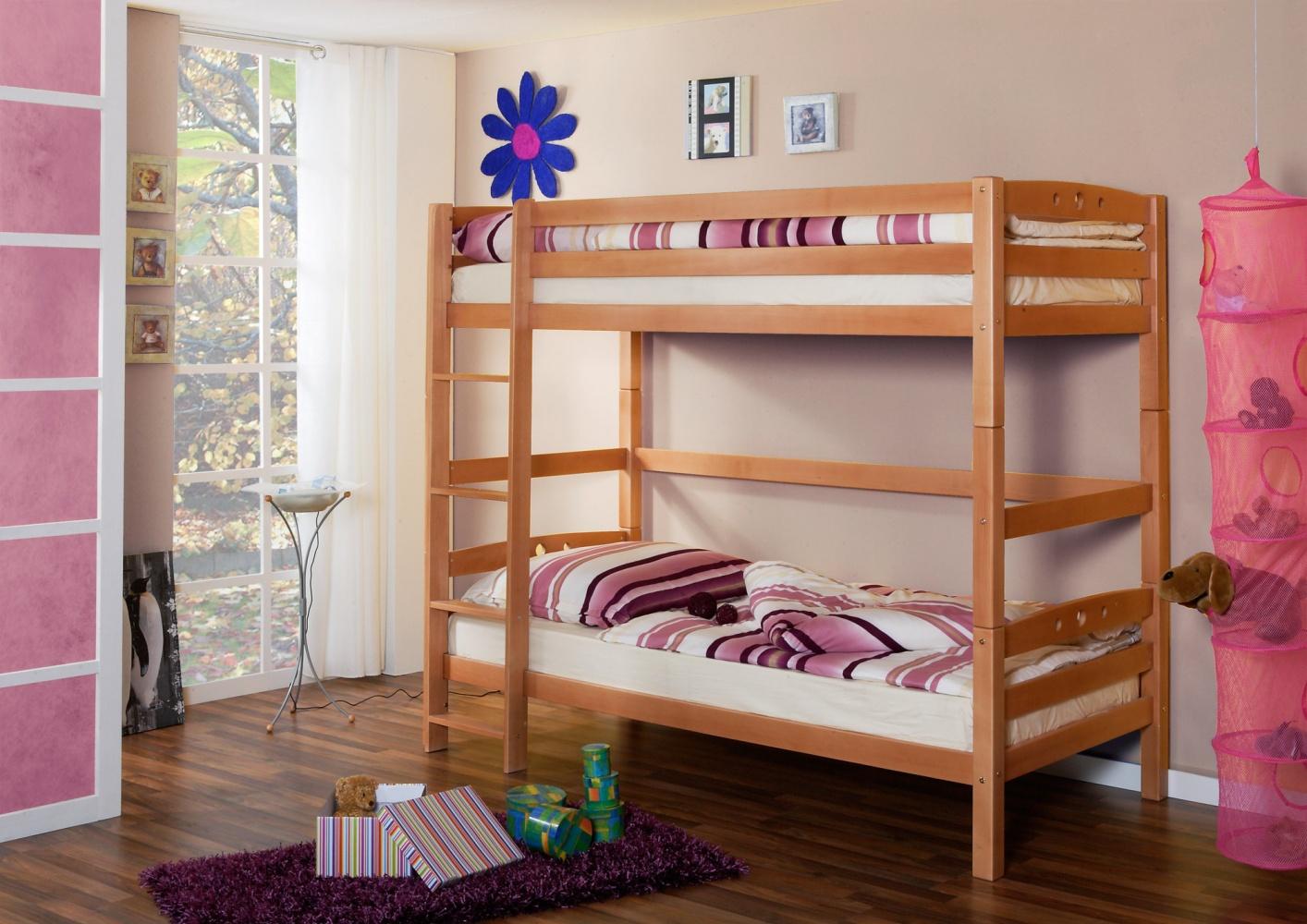 Etagenbett Buche Extra : Etagenbett extra hoch oskar buche massiv kaufen bei möbel lux