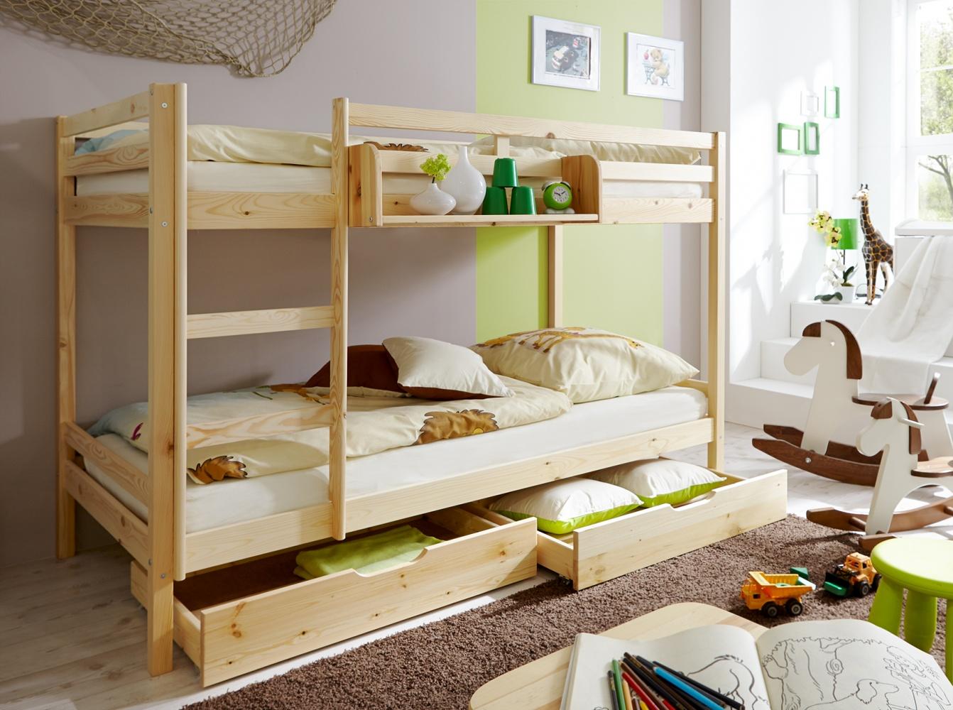 Etagenbett Kiefer Massiv : Jugend etagenbett kiefer massiv noah kaufen bei möbel lux