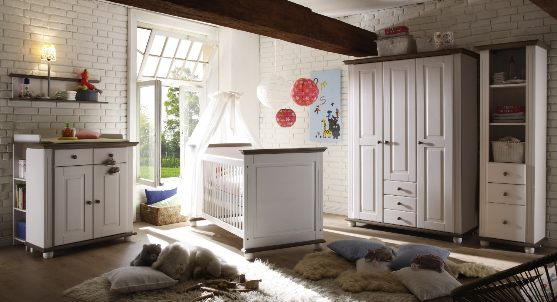 Baby Kinderzimmer komplett Steffen Kiefer massiv - Kaufen bei Möbel-Lux