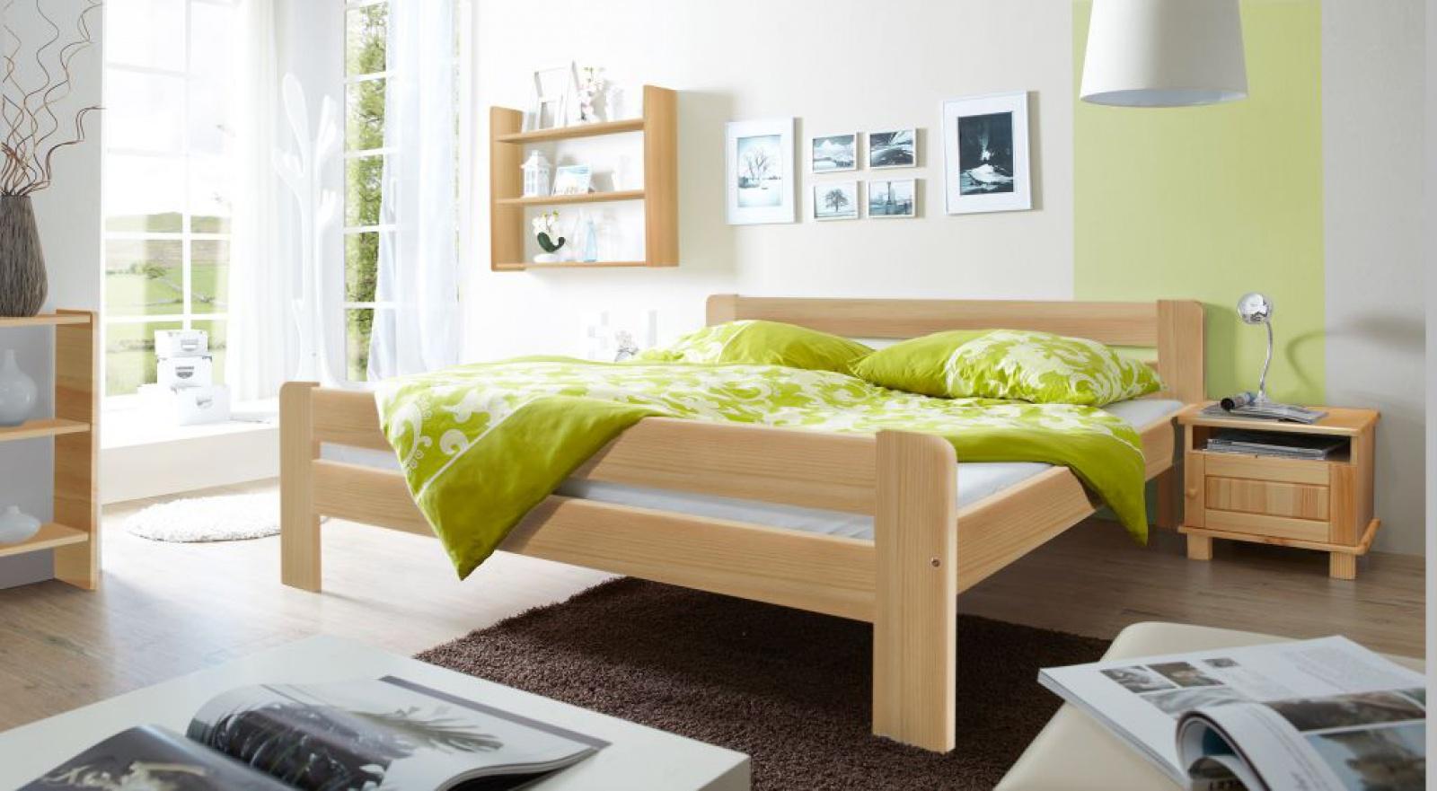 Schlafzimmer Bett Massivholz Allegra 140x200 Cm Kaufen Bei Mobel Lux