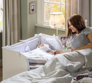 Cilek Cradle Baby Beistellbett in Weiß 46x80 - Vorschau 3