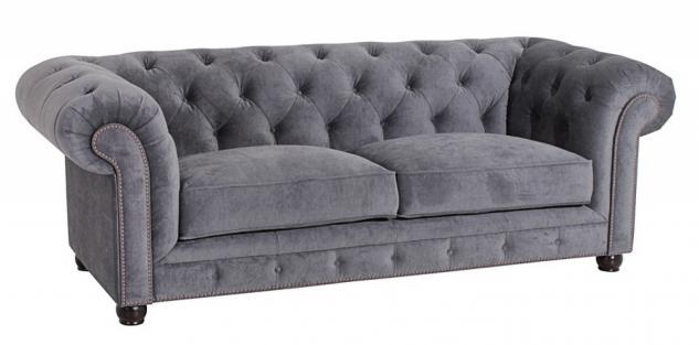 Sofa 2, 5-Sitz Orleans Samtvelours verschiedene Farben