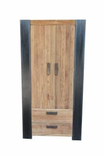 Kleiderschrank Kroko mit 2 Türen aus Teakholz