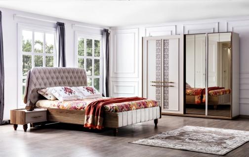 Schlafzimmer komplett Set Silana in Weiß Dekor