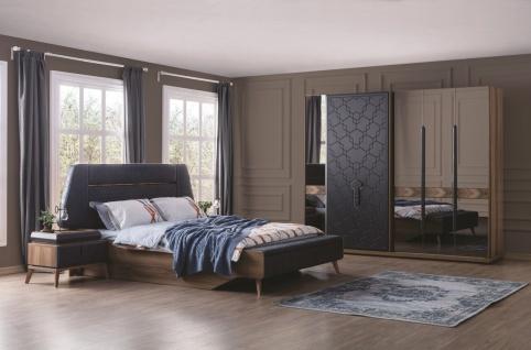 Schlafzimmer Set mit Stauraumbett 5-teilig Beta