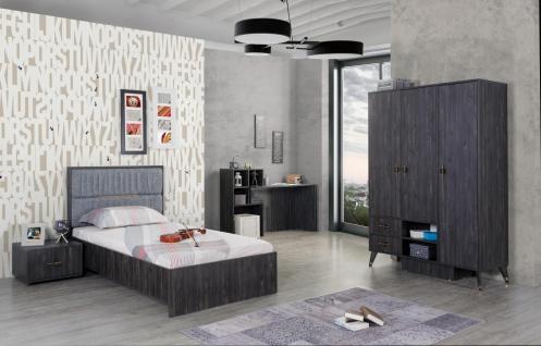 Design Jugendzimmer komplett Pearl Black 4-teilig
