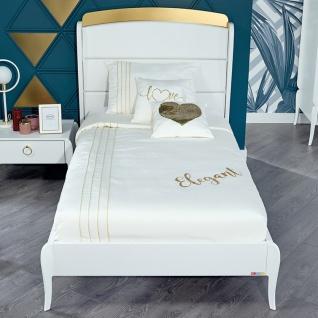 Almila Jugendbett Elegant White 120x200 cm