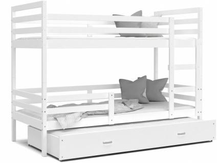Etagenbett mit Gästebett Weiß Rico 90x200