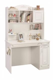 Cilek Selena Schreibtisch in Weiß mit Aufsatz