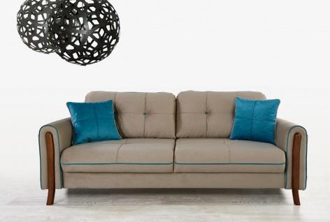 Design Sofa mit Schlaffunktion Mury Beige