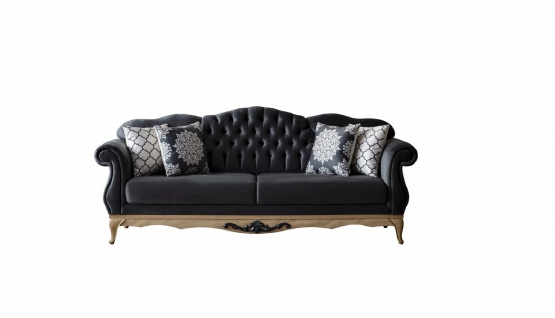 Sofa Balat 2-Sitzer mit Schlaffunktion in Schwarz - Vorschau 1