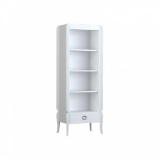 Almila Bücherregal Elegant White mit Schubkasten