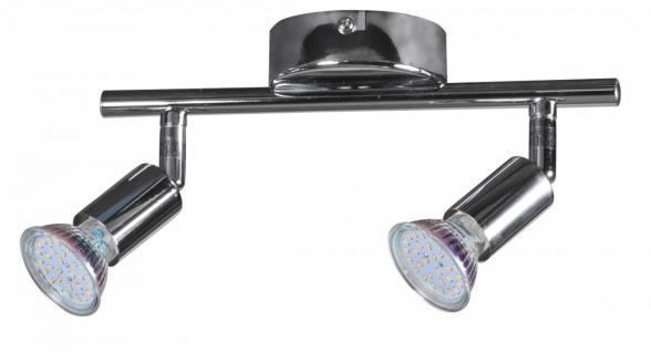 2 flammig LED-Strahler Deckenleuchte Strahler Spotsystem LED Wandlampe Lampe Spot (EEK: A+) - Vorschau 3