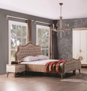 Weltew Schlafzimmer Bett Balat mit Kopfteil 180x200 cm
