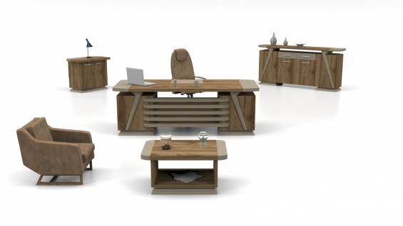 Büromöbel komplett Relix Holz Optik 3-teilig