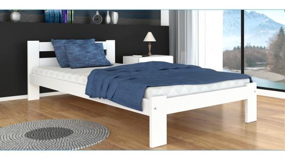 Bett Ariza mit Lattenrost und Matratze Weiß 90x200