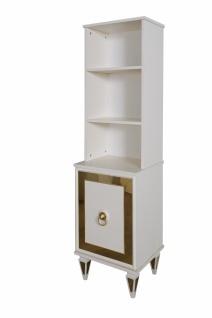 Bücherregal mit goldfarbenen Verzierungen Art Deco