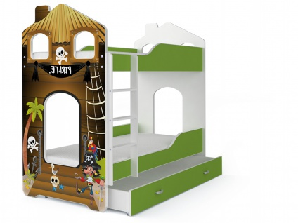 Etagenbett Fairy Pirat mit Matratze 80x180