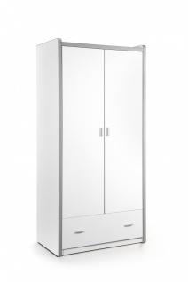Bonny Kleiderschrank 2-türig Weiß
