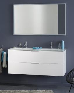 Parisot Luxy Doppelwaschtisch in Weiß mit Spiegel