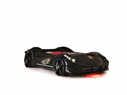 Autobett Titi Car Cat Garage mit LED und Sound Schwarz
