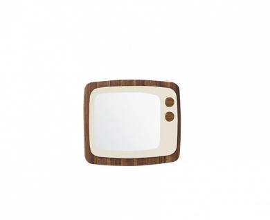 Wandspiegel in Beige Retro Trend in TV Optik