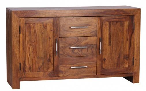 Sheesham Massiv Sideboard 118, 5 x 40 cm montiert - Massivholz