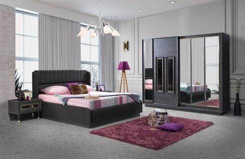Schlafzimmer komplett Golf 5-teilig in Anthrazit