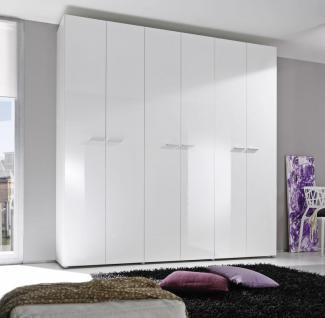 Kleiderschrank Smart 6-trg weiß Hochglanz - Kaufen bei Möbel-Lux