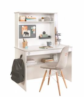 Cilek White Schreibtisch mit Aufsatz und USB