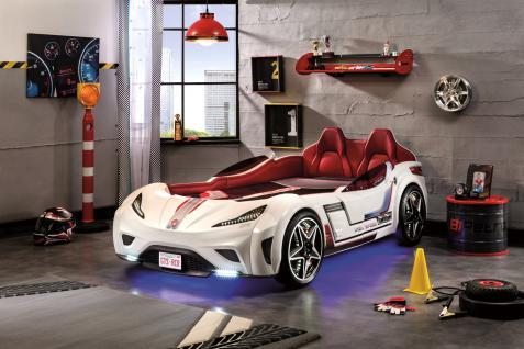 Cilek GTS Autobett Weiß mit Sportsitzen