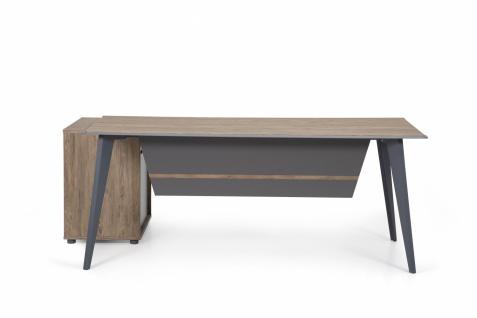 Ovali Design Büroschreibtisch 2-teilig Eco L3 160x80 cm