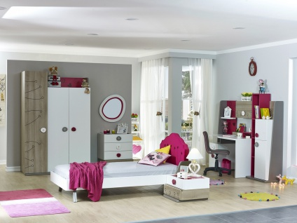 Kinderzimmer Set in Weiß Pink Sweety 8-teilig