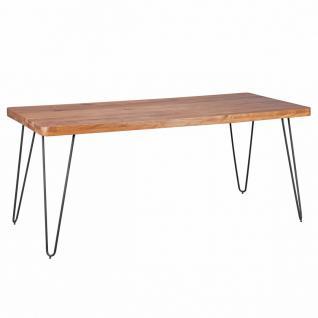 Massivholz Akazie Esstisch 180 x 80 x 76 cm Küchentisch Massiv
