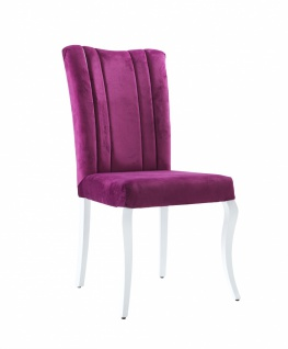 Kinder Stuhl gepolstert Purple in Samtvelours