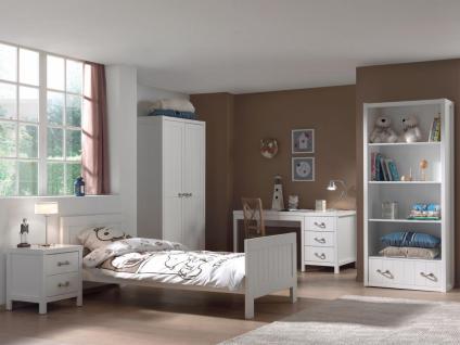 Mädchenzimmer Set Iny 5-teilig in Weiß MDF