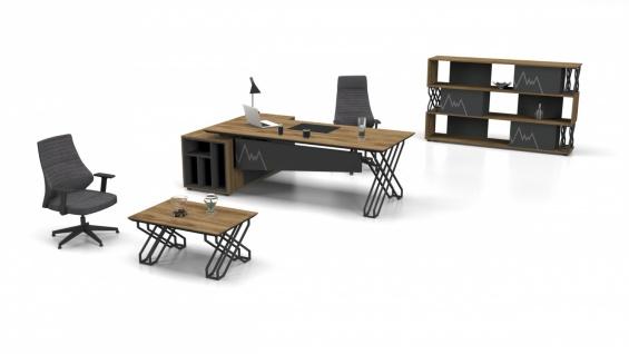 Büromöbel komplett Set Ritim Holz Optik 3-teilig