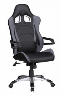 SPEED Racing Chefsessel schwarz/grau Bürostuhl Drehstuhl mit synchronisierter Mechanik