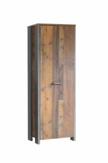 Garderobenschrank Holz Optik Cleo 1-türig