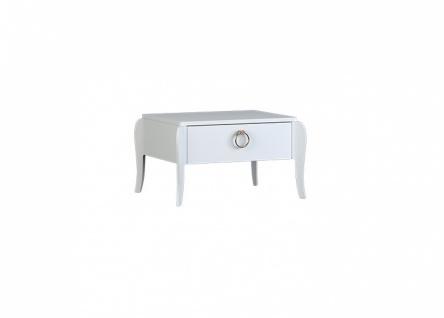 Almila Nachttisch Elegant White mit Schubkasten