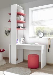 Design Regal mit drei Böden in Rot Space