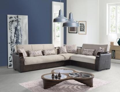 Ecksofa Couch mit Schlaffunktion und Stauraum Misa