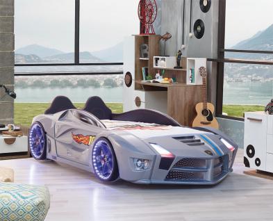 Autobett in Grau Luxury mit LED Beleuchtung