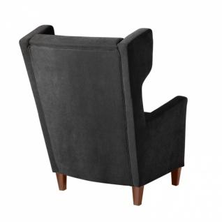 Sessel Amy weicher Veloursstoff, schwarz